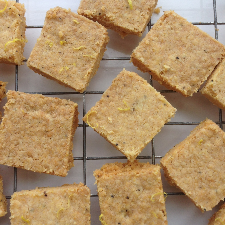 Vegan Shortbread with 'Parmesan', Polenta and Pepper